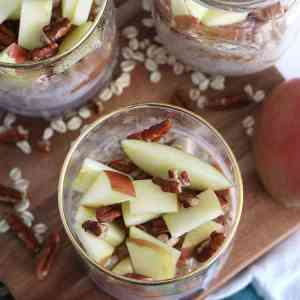 Apple Butter Overnight Oats [clean-eating]