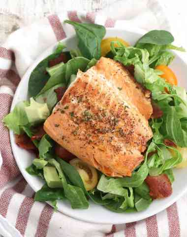 salmon BLT salad