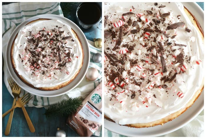 crushed peppermint cheesecake