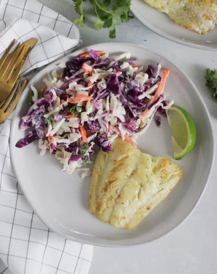 seared cod with a brown butter lime sauce #lowcarb