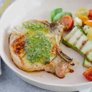 Pesto Grilled Pork Chops