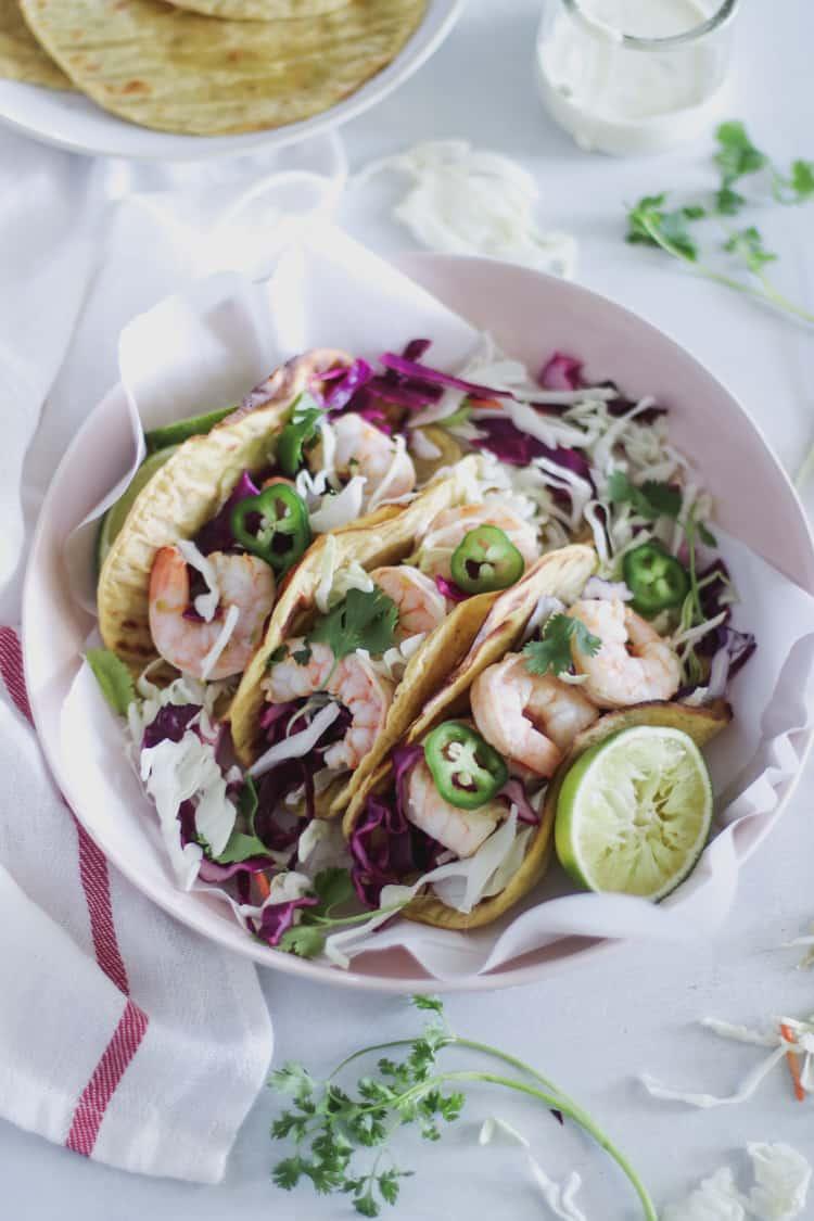 Chili Lime Shrimp Plantain Tacos