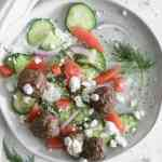 whole 30 gyro meatballs in the air fryer [paleo, low carb]