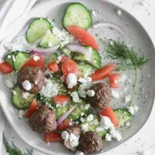 whole 30 gyro meatballs in the air fryer