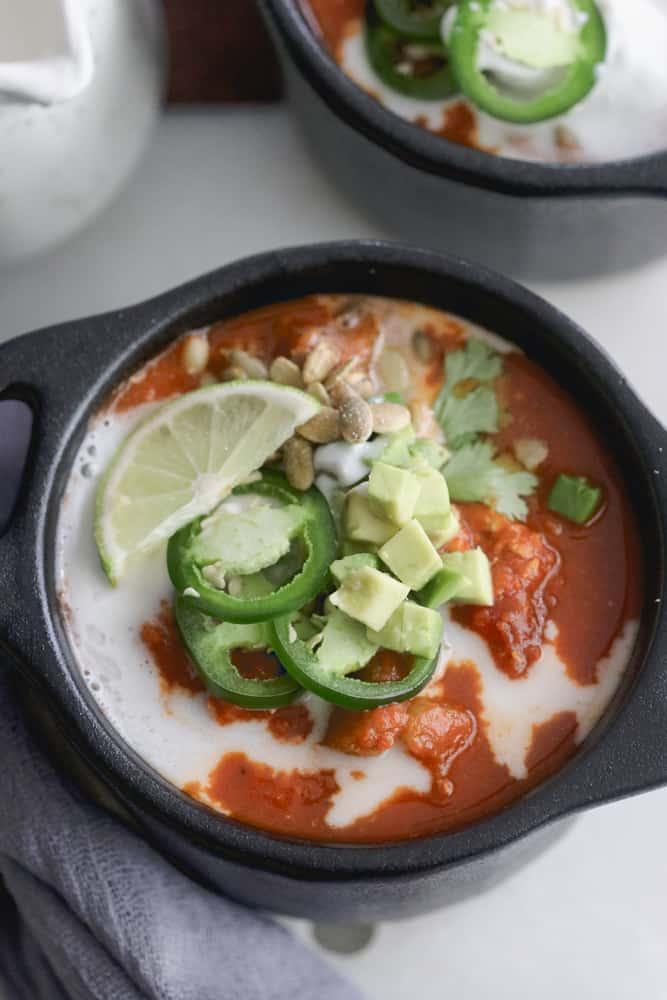 Slow Cooker Paleo Pumpkin Chili with Turkey