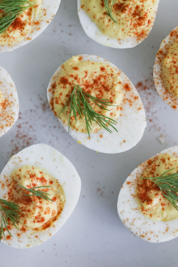 classic deviled eggs in the instant pot
