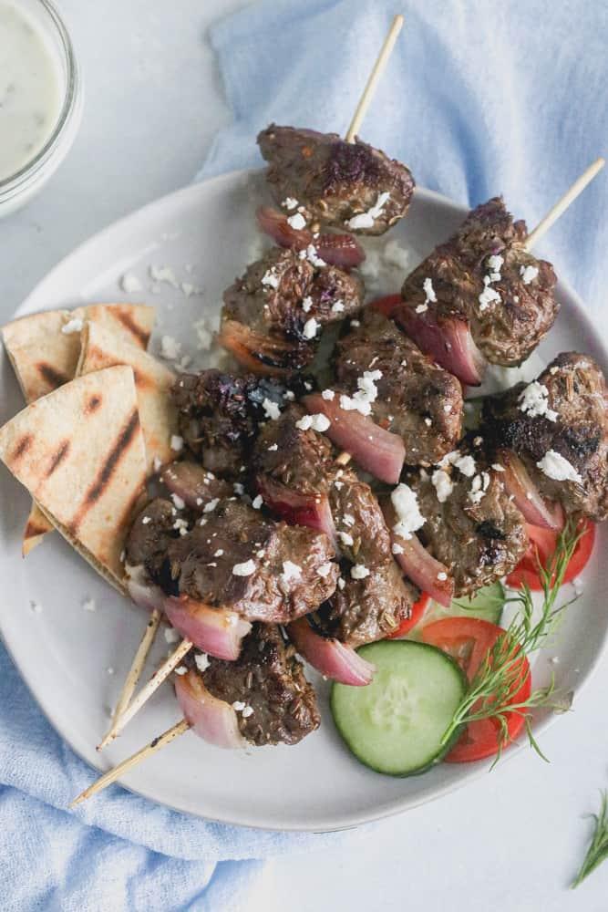 cumin-rubbed lamb kebabs