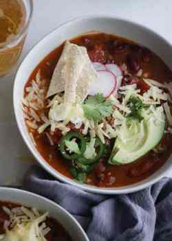 ground beef and beer chili