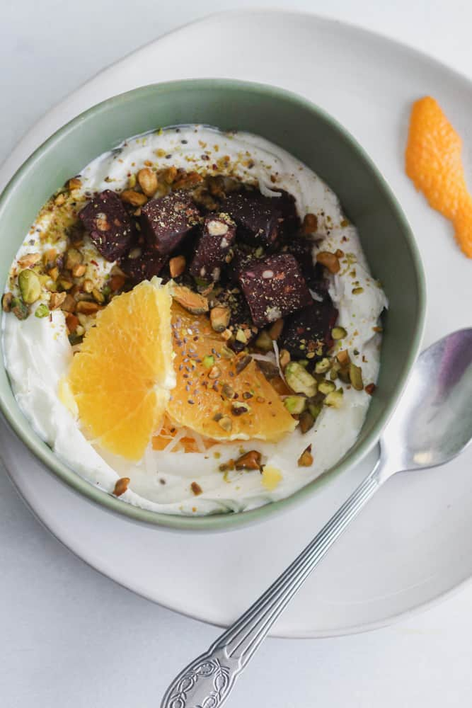 Cherry Pistachio Yogurt Bowls
