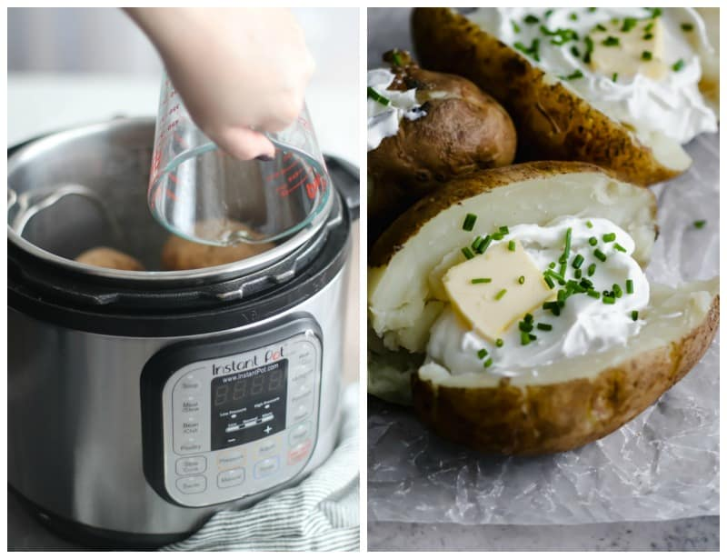 Pressure Cooker Baked Potatoes [Instant Pot]