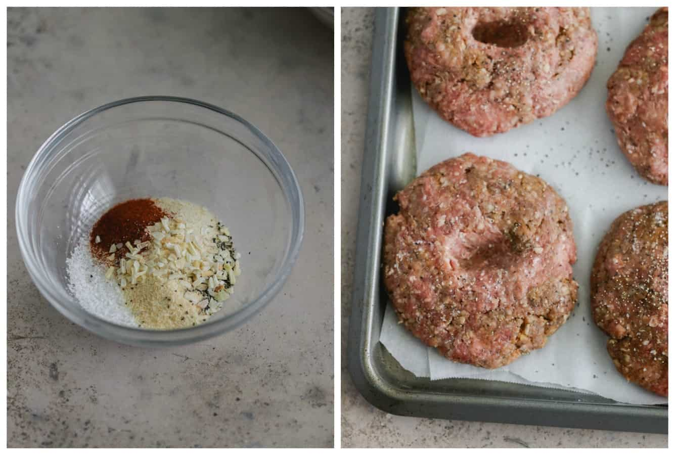 perfectly grilled beef burgers
