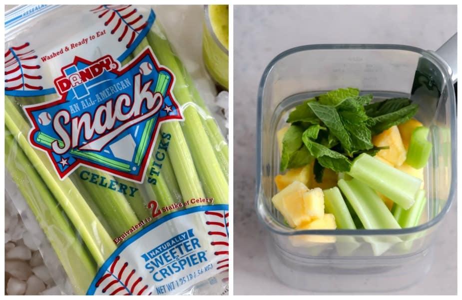 Pineapple-Celery Frozen Mojito
