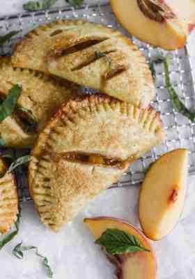 Basil + Bourbon Peach Hand Pies