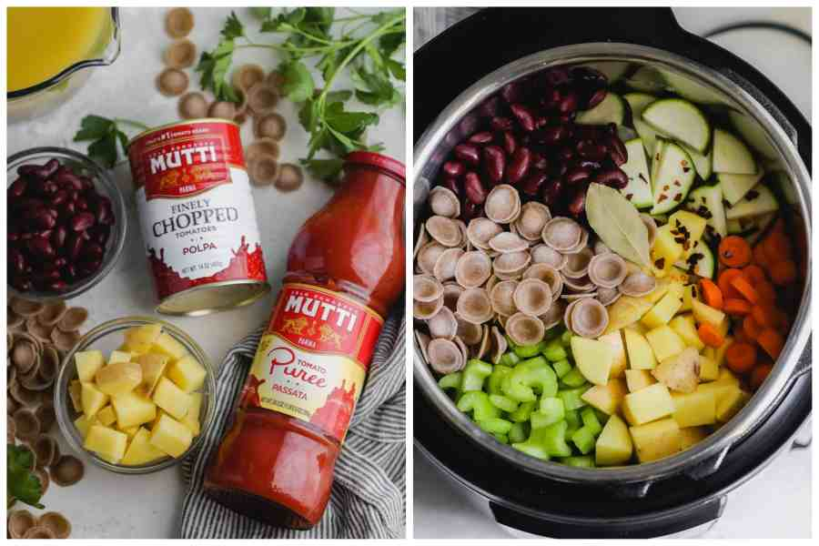 Instant Pot Minestrone Soup ingredients