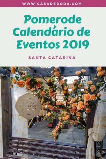 Calendário de Eventos Pomerode 2019