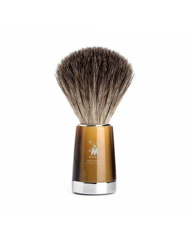 Mühle – Pincel de barba texugo cinza Liscio