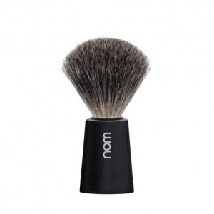 Pincel de barbear Nom texugo Cinza (Serie Carl Preto)