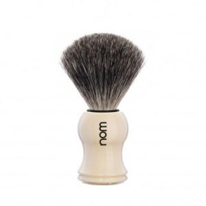 Pincel barbear NOM Cinza (Série Gustav marfim)