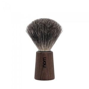 Pincel de barbear Nom Texugo Cinza (Serie Theo Madeira)