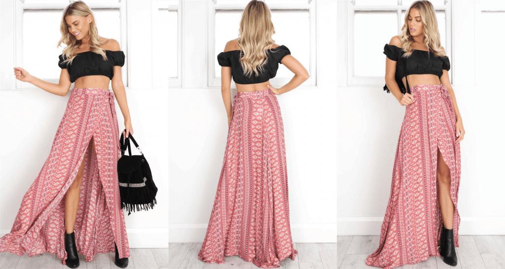 best boho style skirt