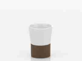 Bicchiere ceramica e gomma Piano