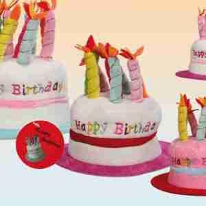 Cappellino di compleanno con 8 candele