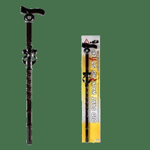 Bastone da passeggio in legno con supporto bibite e campanello