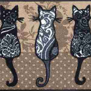 Tappeto Wash+dry Kleen-tex  Banda dei gatti cm.50x75