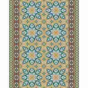 Tappeto vinile Beija Flor decoro Ind1 cm.60x80