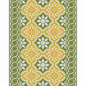 Tappeto vinile Beija Flor decoro Mountai Ts7 cm.60x80