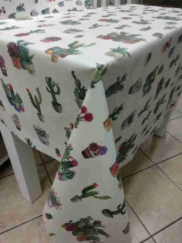 Tovagliato resinato decoro cactus