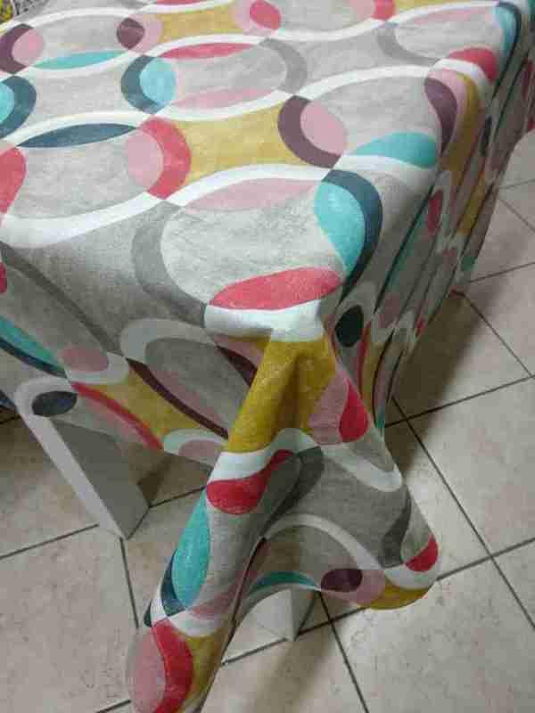 Tovagliato resinato decoro Circles multicolor