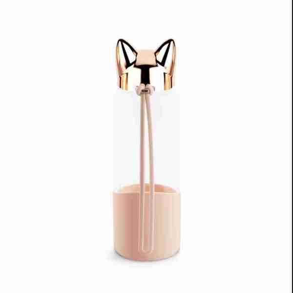Bottiglia Cat ml.350 rosa borosilicato Balvi art.27042