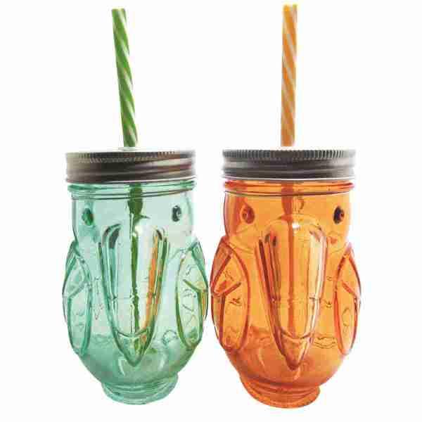 Bicchiere Tucano con cannuccia