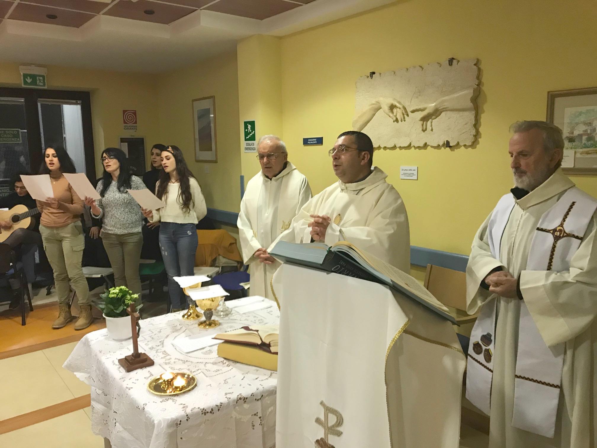 Celebrata la messa per la città all'Hospice dell'Ospedale Maggiore di Modica
