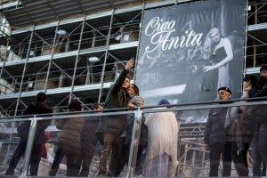 Anita Ekberg gigantografia in Piazza Trevi