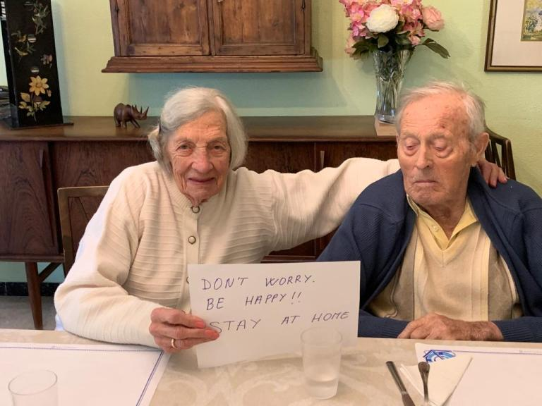 Eva and Arne - Message to the world. Don't' Worry