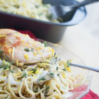 Lemon Chicken Angel Hair Alfredo