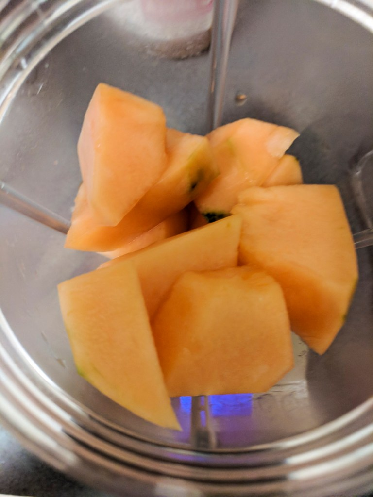 cantaloupe chunks in blender