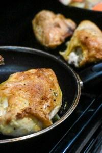 close up roast chicken skin