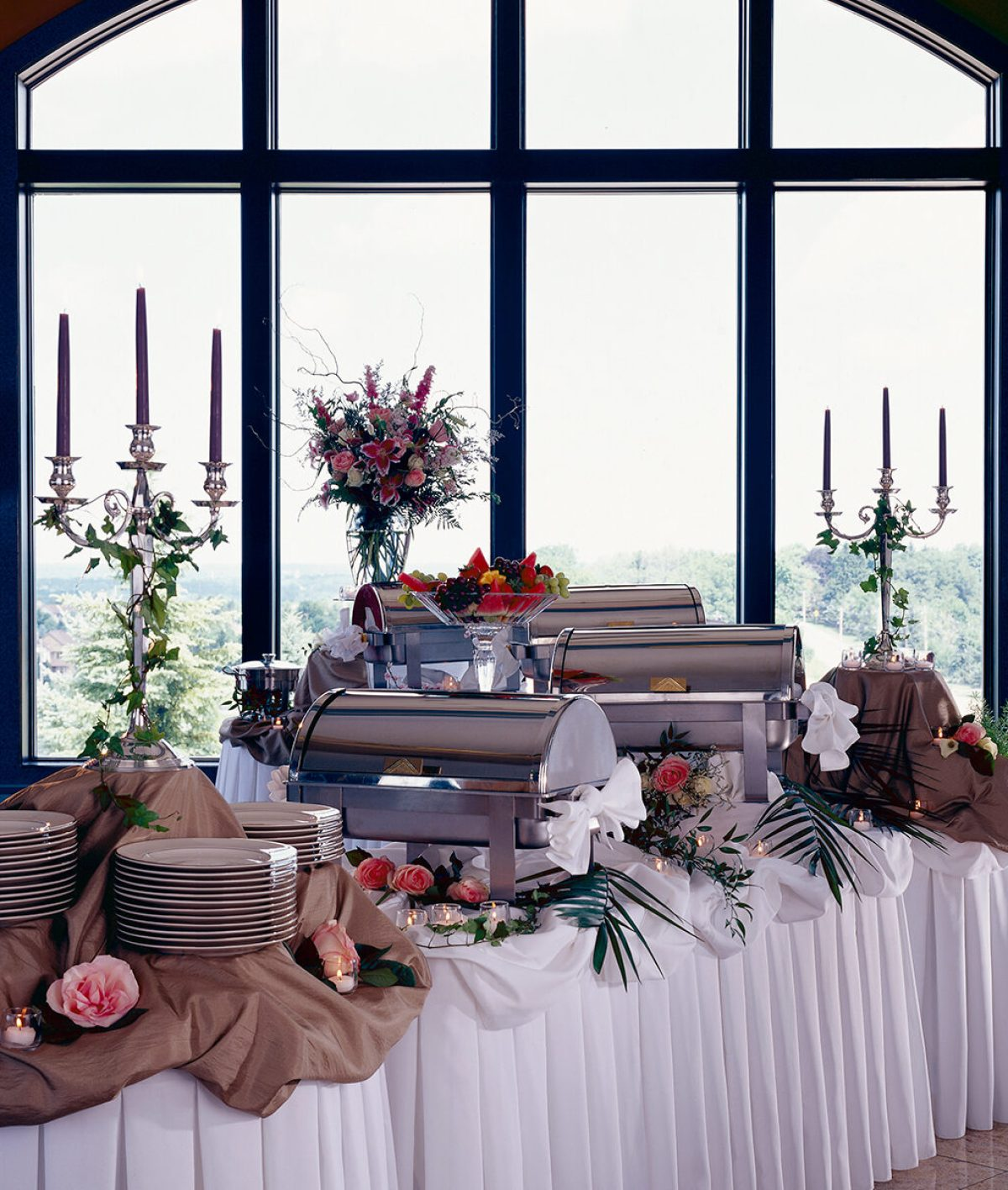 Buffet set up, Corporate and Special Events at Casa Larga Vineyards