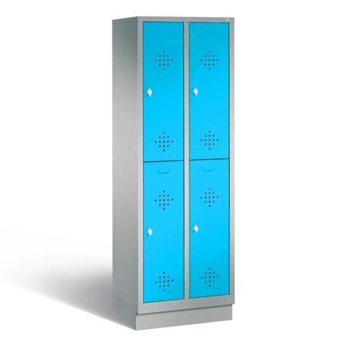 armoire vestiaire 2 casiers superposes sans pied