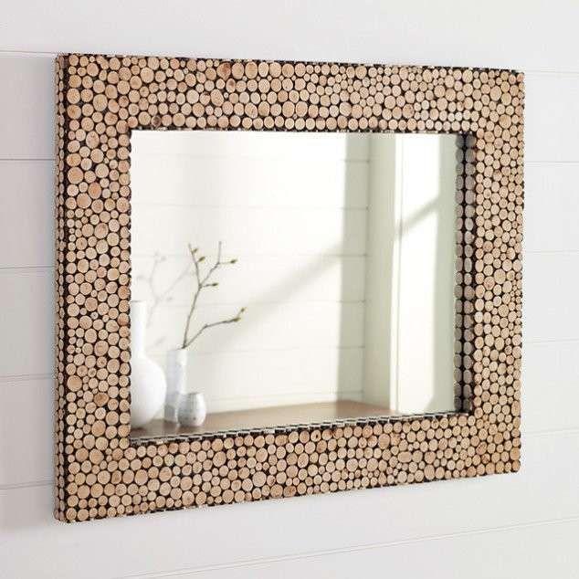 decorazioni fai da te specchio cornice tappi vino