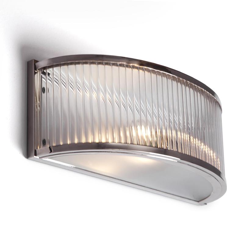 half round art deco wall luminaire with