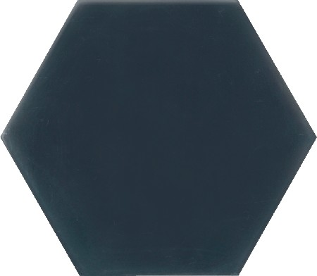 carreau de ciment colore hexagone uni bleu fonce hu30