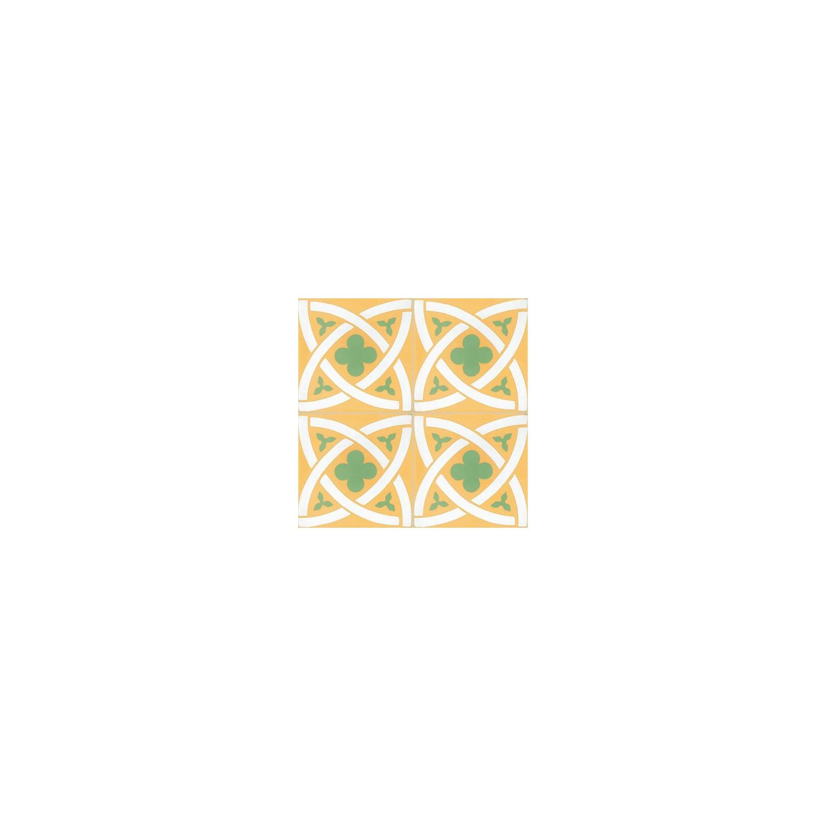 Carreau De Ciment Colore Motif Jaune Blanc Et Vert T02 10 17 18 Casalux Home Design
