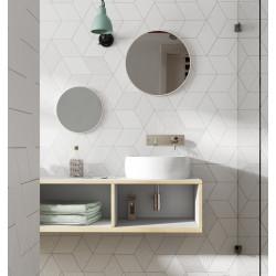 carrelage gres cerame effet graphique rhombus smooth et decor losange 24x14cm 6 3 couleurs 1 decor