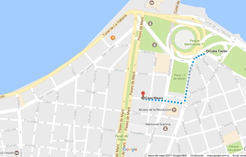 mapa viazul varadero