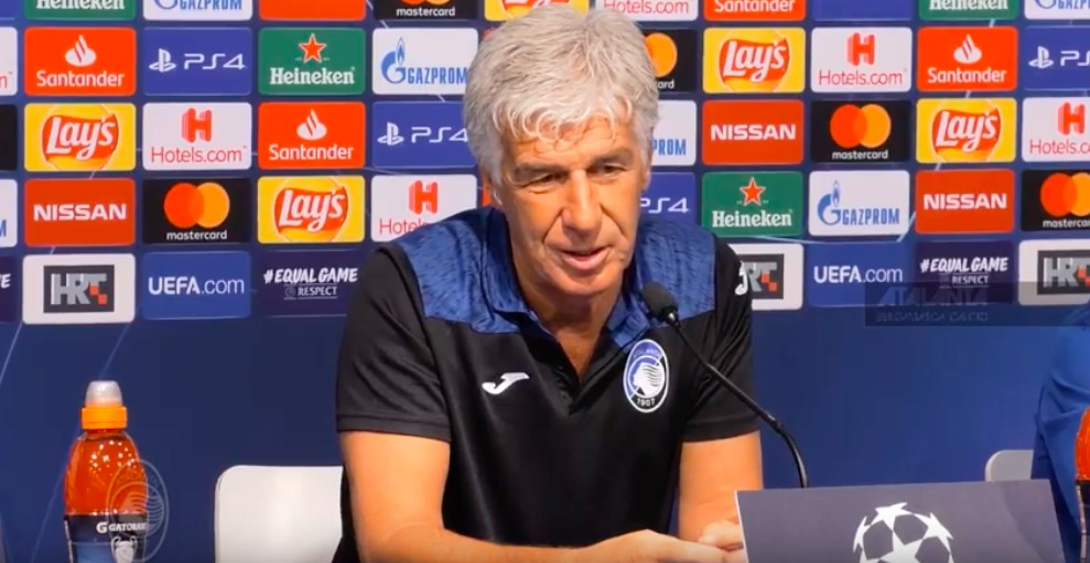 Gasperini in conferenza stampa