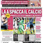 """Prima Pagina CdS Ed. Campania: """"La A spacca il Calcio"""""""